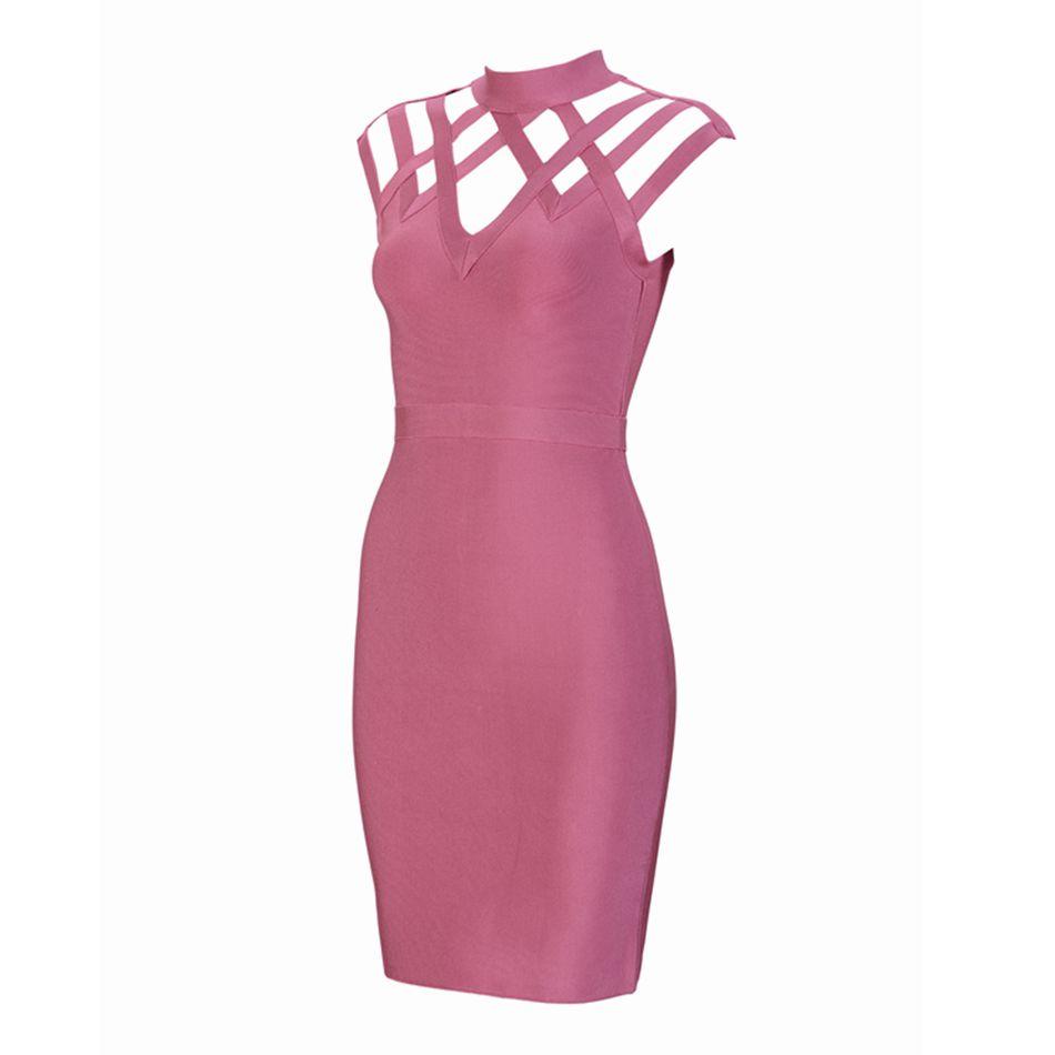 ᗚ2018 nueva primavera vestido del vendaje de las mujeres Celebrity ...