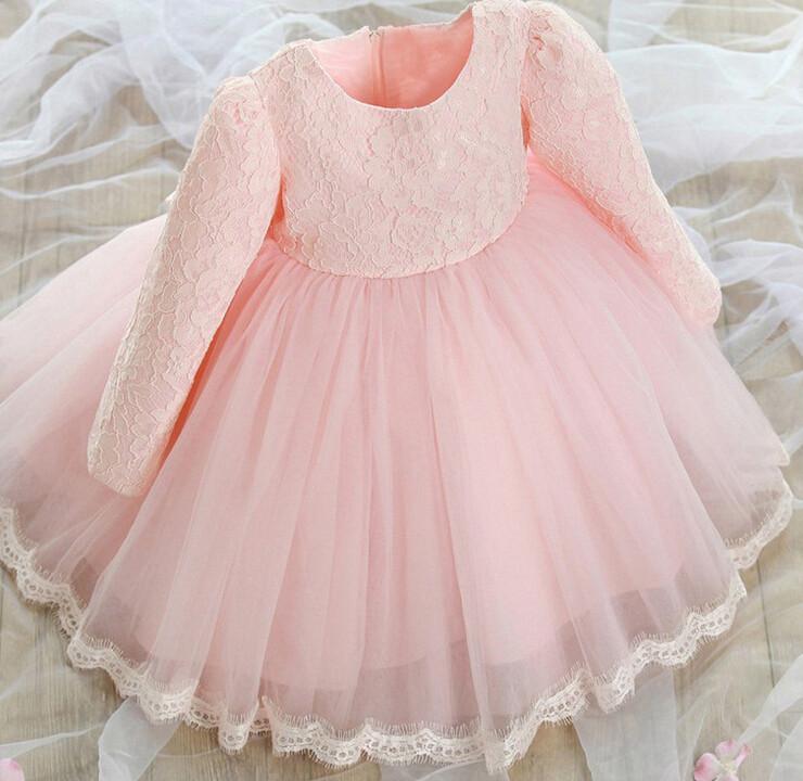 e1e666a417cc girl wedding dress girls 2018 lace Flower Christening Wedding Party ...