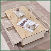Simple and stylish living room coffee table modern ...