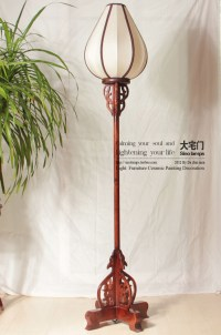 Chinese rustic style floor lamp classical palace lanterns ...