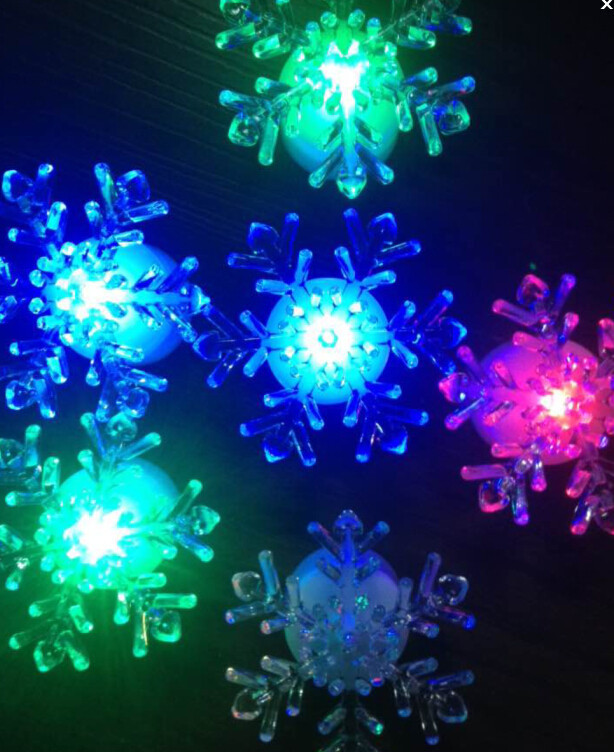 Color Changing Acrylic LED Snowflake Window LED Christmas