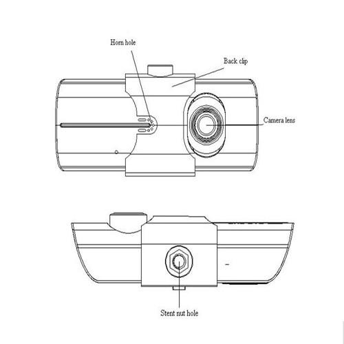 Podofo Dual Lens Car DVR X3000 R300 Dash Camera with GPS G