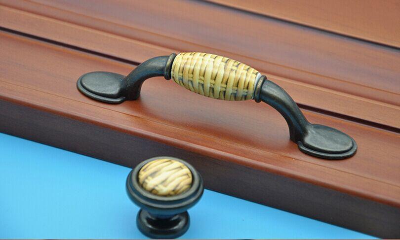 ᐂ3 cómoda cajón tirador amarillo oscuro cerámica cocina gabinete ...