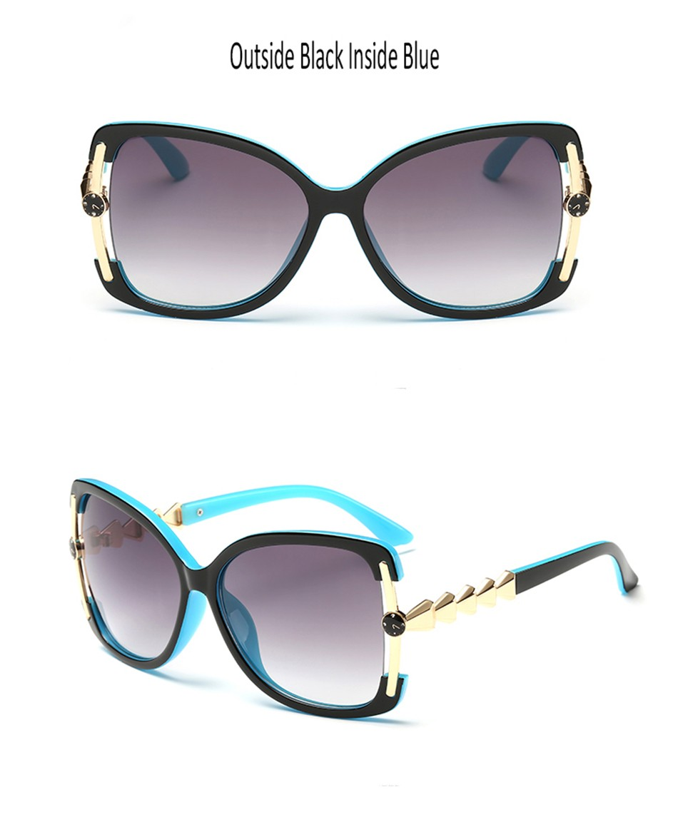 ac246e792e2b8 ᗛBULUN Fashion Oversized Sunglasses Women Brand Designer Vintage ...