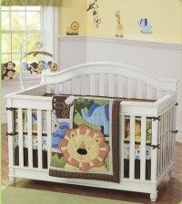 baby-crib-bedding-set-lions-wildlife-design-with-bumper ...