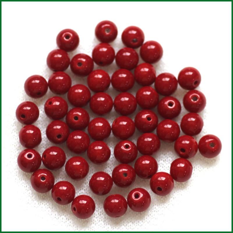 f8524443cbe5 8mm 10mm 100 piezas cristal cristalino de la manera hermosa Beads flojo  redondo Color puro perlas DIY collar pulseras cuentas