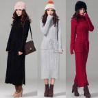 Korean Fashion Winter Women Turtle Neck Slim Long Sleeve