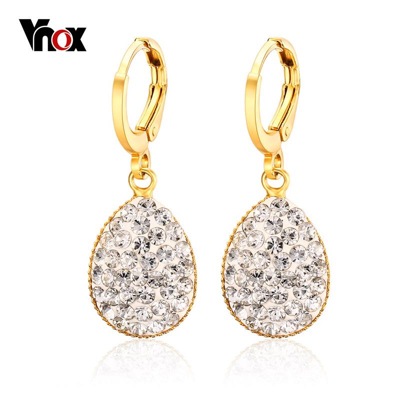 Aliexpress.com : Buy 1Pair Crystal Heart Drop Earrings For
