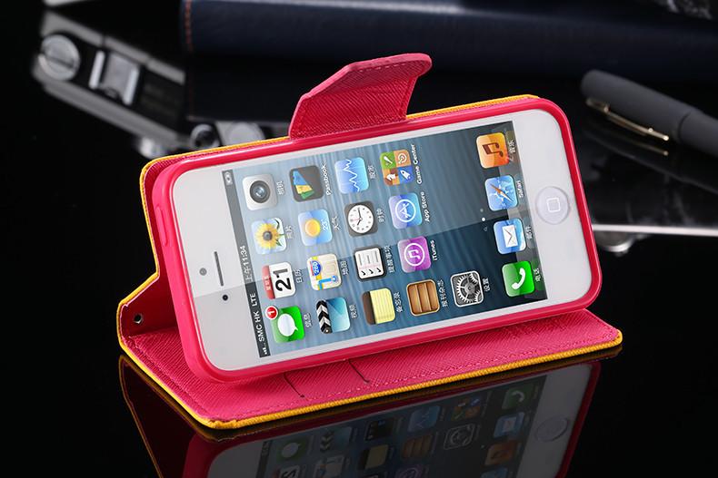 אופנה יוקרה חמוד צבעוני Case Flip עבור iPhone5 של אפל 5 5G מקסים ארנק עור עומד לטלפון אביזרים כיסוי עבור iphone 5