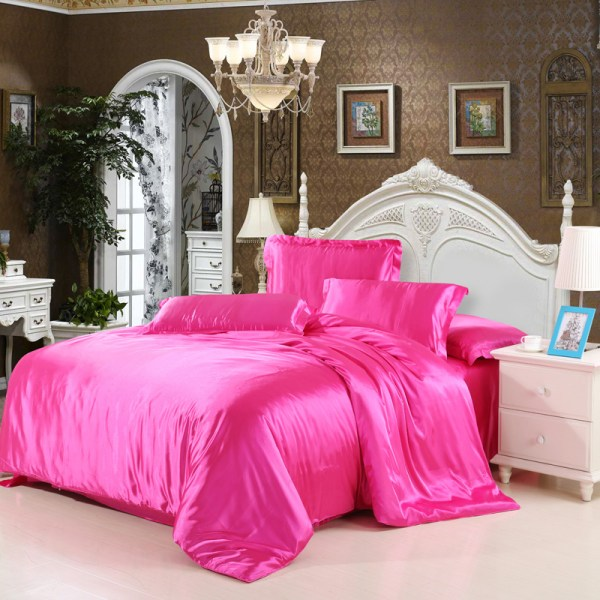 Cheap Luxury Bedding Sets Silk Quilt Duvet Cover Full Queen King Size