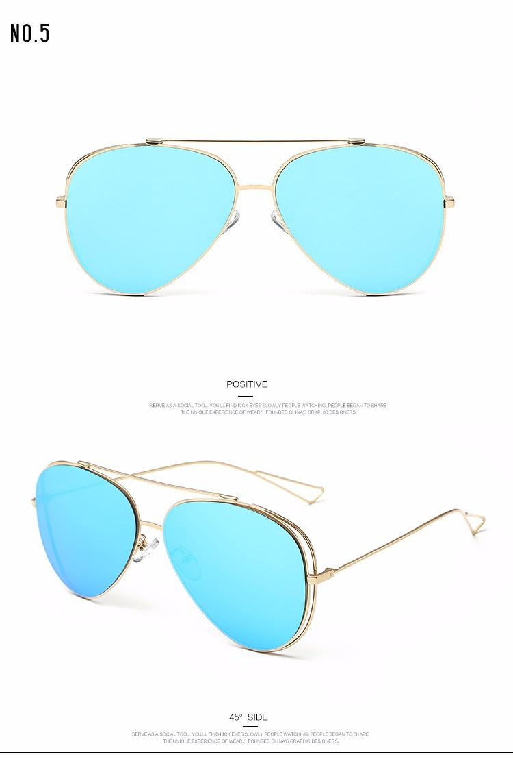 e7feaafe905af ROZA Espelho Estilo Óculos de Armação de Metal Óculos De Sol Das Mulheres  de Verão Marca de Luxo Designer Shades óculos de Sol Com Caixa QC0386