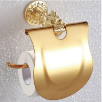 Gold Polished Toilet Paper Holders copper Paper Roll Rack ...