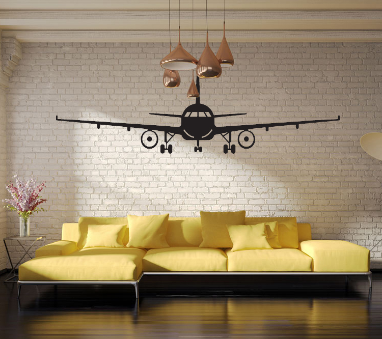 4028 3D Airplane Wall Stickers Muraux Wall Decor Airplane