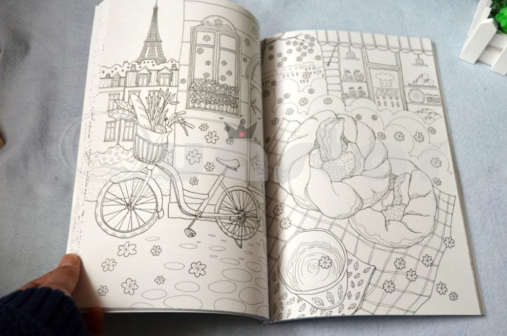 ộ_ộ ༽Francia viajes libro para colorear jardín secreto estilo ...