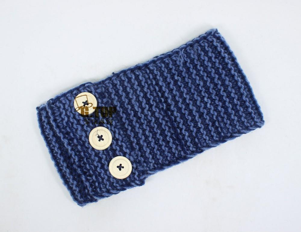 ̀ •́ Nuevo estilo mujeres knit Bandas para la cabeza madera tres ...