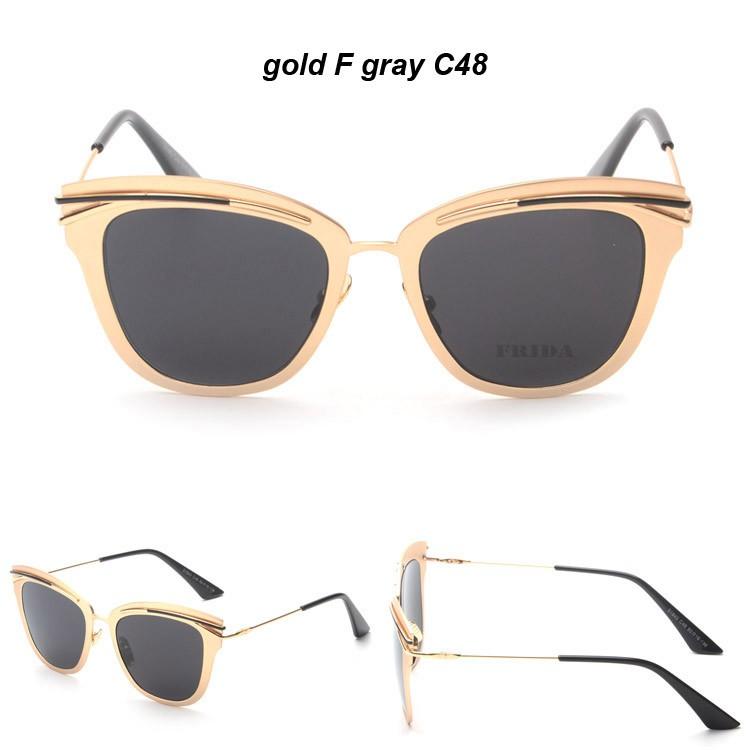 00f0910142ccd2 Banstone espelho lens metal frame da liga de óculos retrô mulheres cd plana  para rea óculos de sol cat eye óculos de sol luneta de soleil