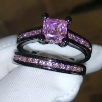 Victoria Wieck Princess Pink sapphire Simulated diamond ...