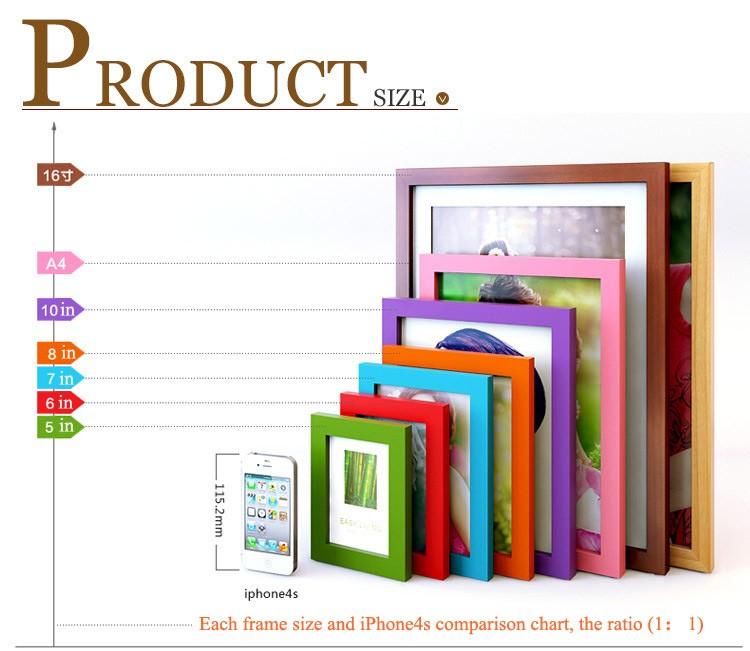 Marco de madera 6 pulgadas 7 pulgadas A4 oscilación marco de fotos ...