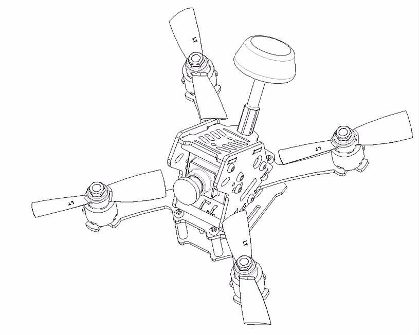 Mini Racing Drone Kit Aviones Quadcopterpure Fibra De Carbono