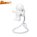 HGHomeart Astronaut Mini Flexible USB LED Night Light Lamps 12V Spaceman Portable Reading Lights Outdoor for