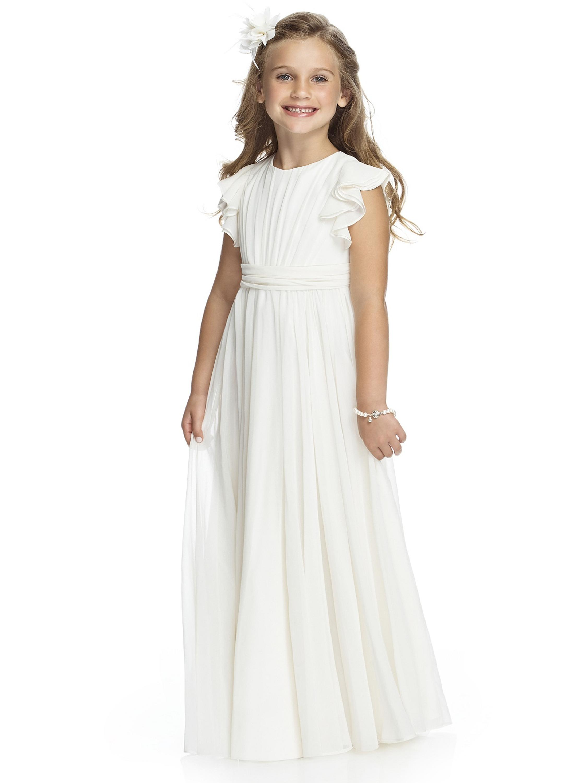 Chiffon Flower Girls Dresses For Wedding Gowns White Girl Birthday