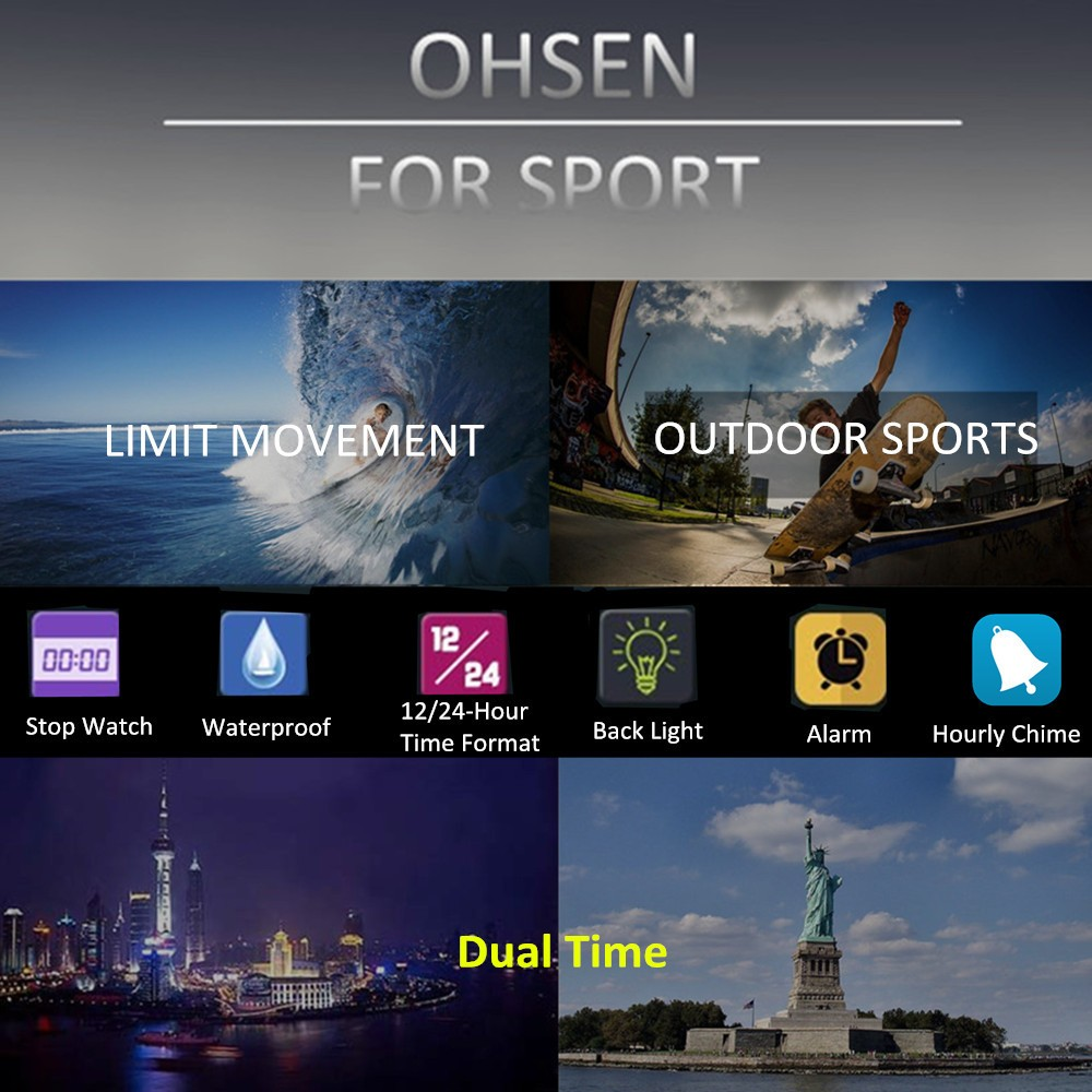 New Ohsen Fashion Brand Quartz Digital Watch Men Led 50m Swim Sports Details About Ut15b Multifunction Voltage Short Circuit Tester Step Features Model With High Quality Hour Minute Second Pm Month Date Day 12 24 Format Alarmstopwatch Function Additional Lcd