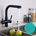 5 Yr Warranty New Arrival 100 Solid Brass Round Style 3 Way Kitchen Mixer Faucet Crane