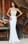 White Long Fitted Prom Dresses