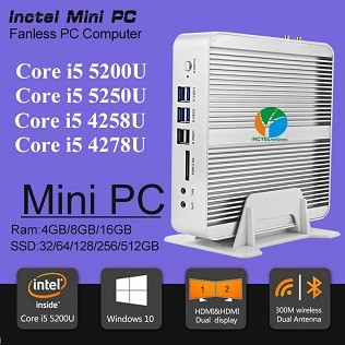 Partaker B5 המשרד לעסקים מחשב Mini with 5th Gen Intel 14nm Quad Core מעבד N3150