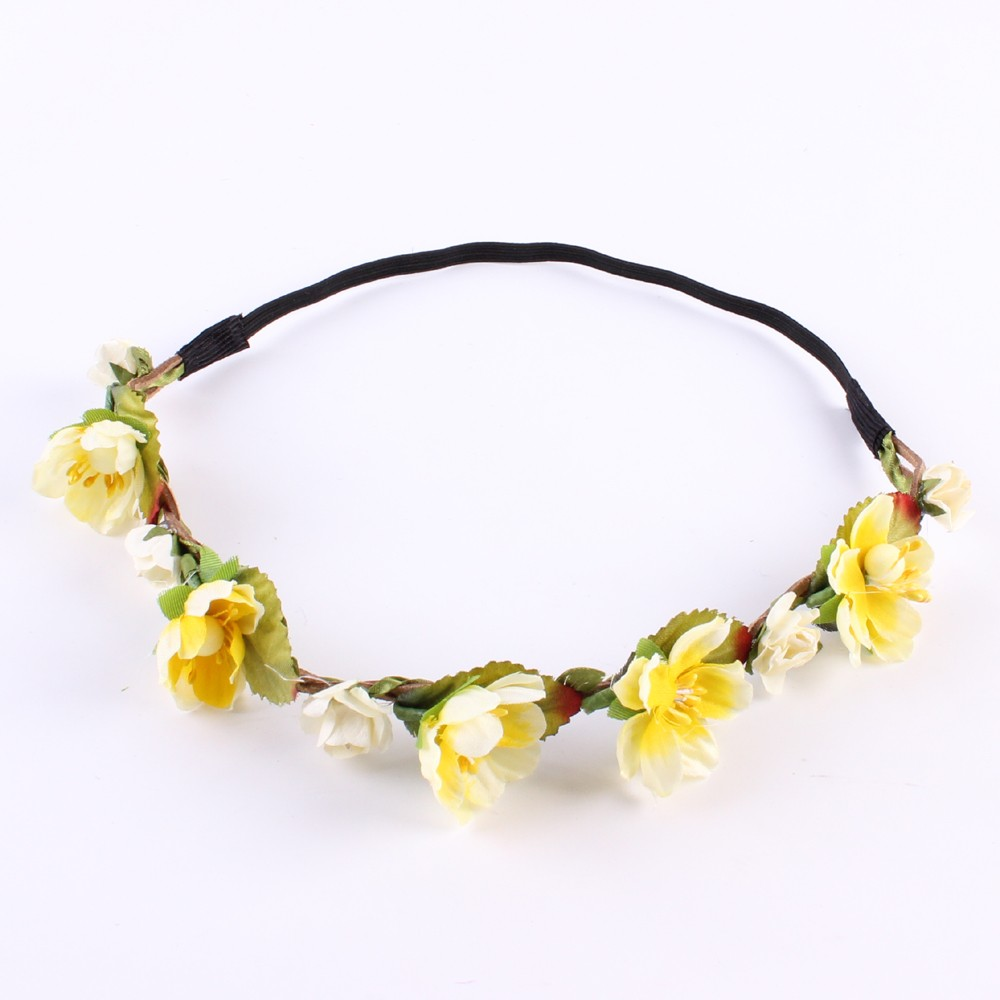 N1pc Women Lady Girl Bohemia Handmade Flower Crown Wedding Wreath