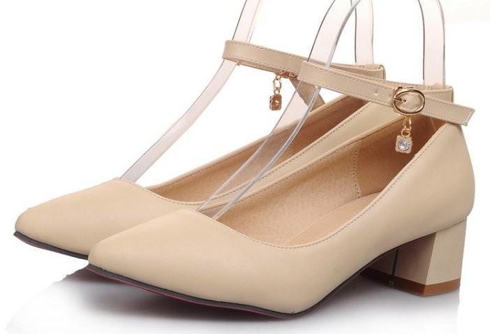 Donne piazza di alta qualità scarpe tacco punta aguzza sexy moda primavera  tacco alto calzature di marca pompe talloni size 34-43 P16309 8f84a0dad7b1