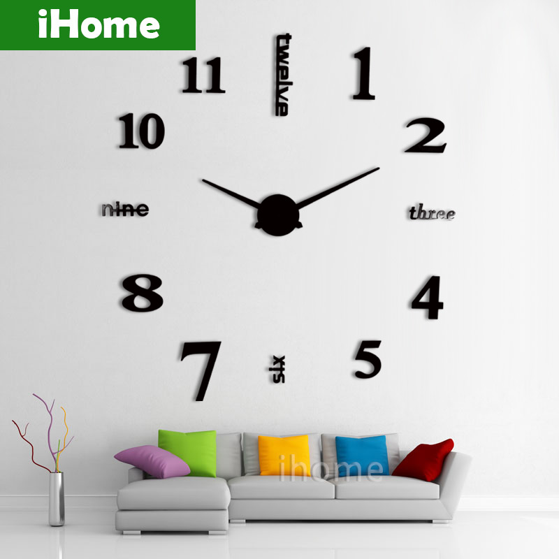 big wall clocks for living room feng shui mirror wholesale 3d large sticker decorative clock mq005 1