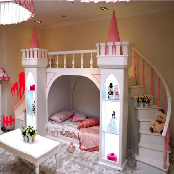 Continental-pure-pine-wood-bunk-beds-children-bed-castle