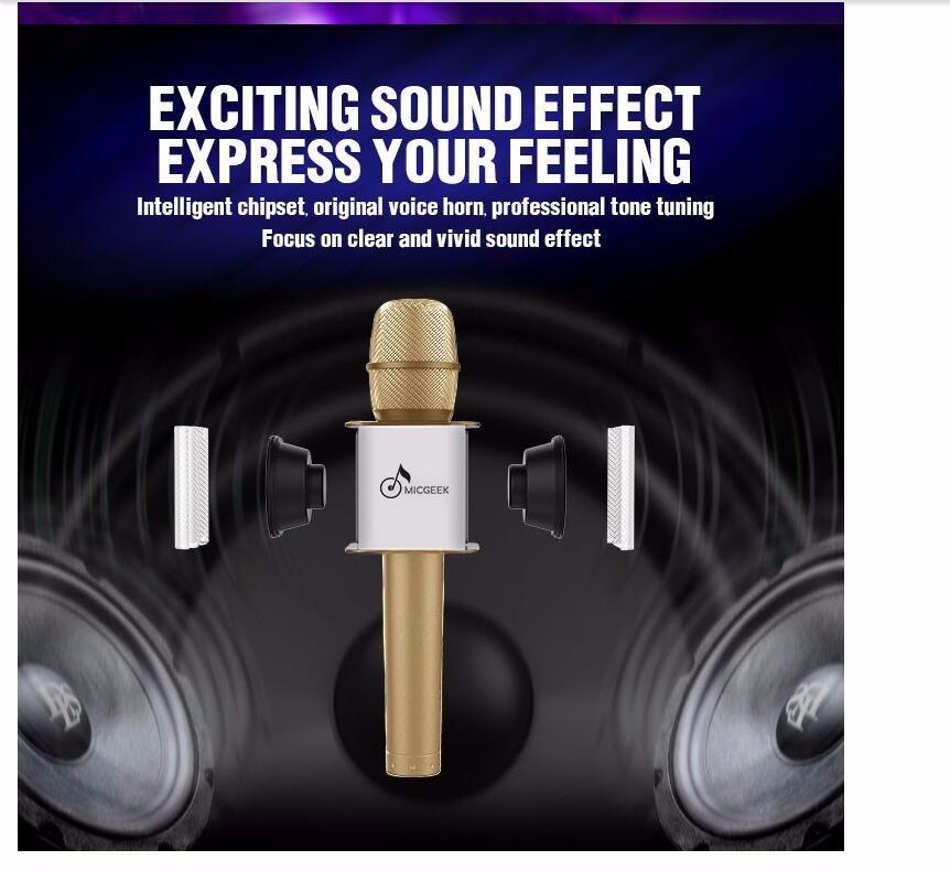 2016 חדש mini bluetooth רמקול מיקרופון דש מיקרופון אלחוטי ש9 Q7 יום ב המיקרופון רמקול KTV סופר בס רמקול נייד