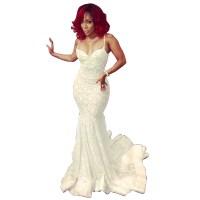 White Lace Prom Dress Mermaid | www.imgkid.com - The Image ...