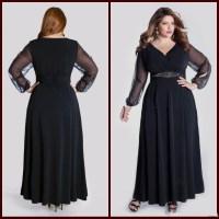 Alternative Wedding: Long black evening dress size 6