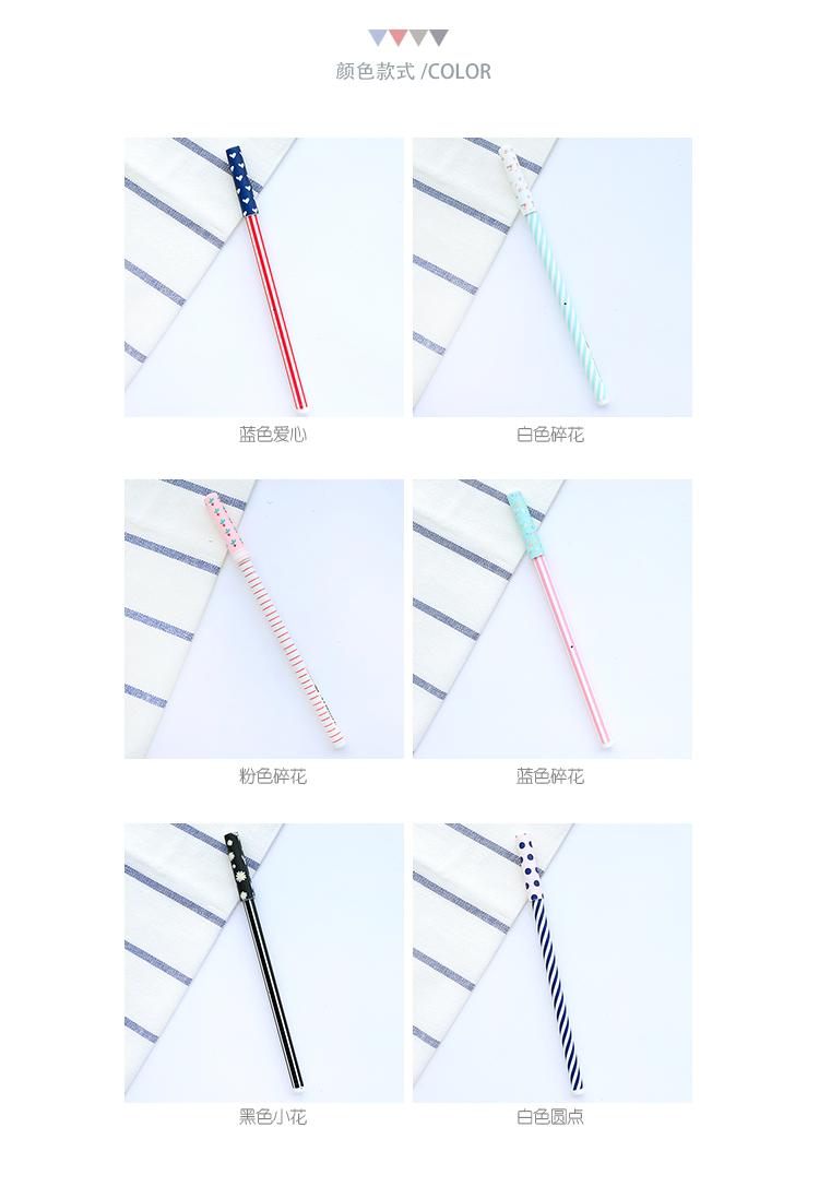 ᐊZufalls 5 stücke gel stift Südkorea einfache streifen voll nadel ...