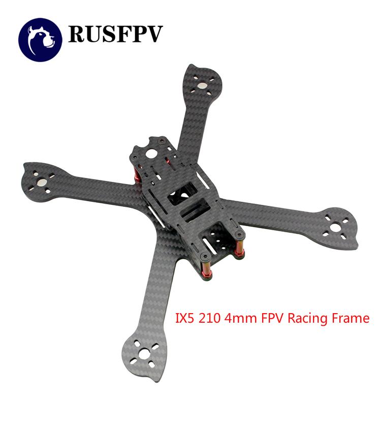IX5 210 210mm 4mm fibra de carbono tramo X FPV Racing marco para FPV ...