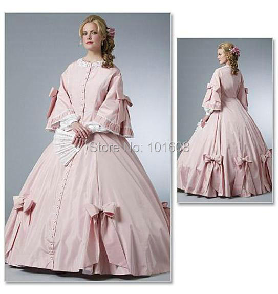 Newall Size Pink Victorian Dresses 1860s Civil War Southern