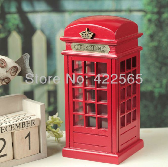 Retro Mail Box Uk Posting King Of England Model Photography Props Bar Coffee Decorative Ornaments