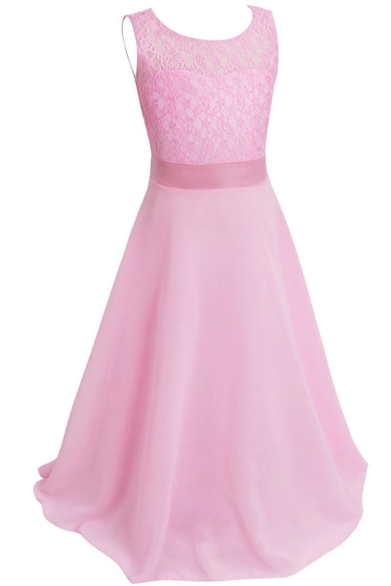 ᗕRetail encanto Vestidos de flores de niña con Encaje Kid Girl Top ...