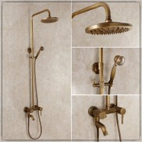 Antique bathroom shower set rainfall vintage bathroom ...