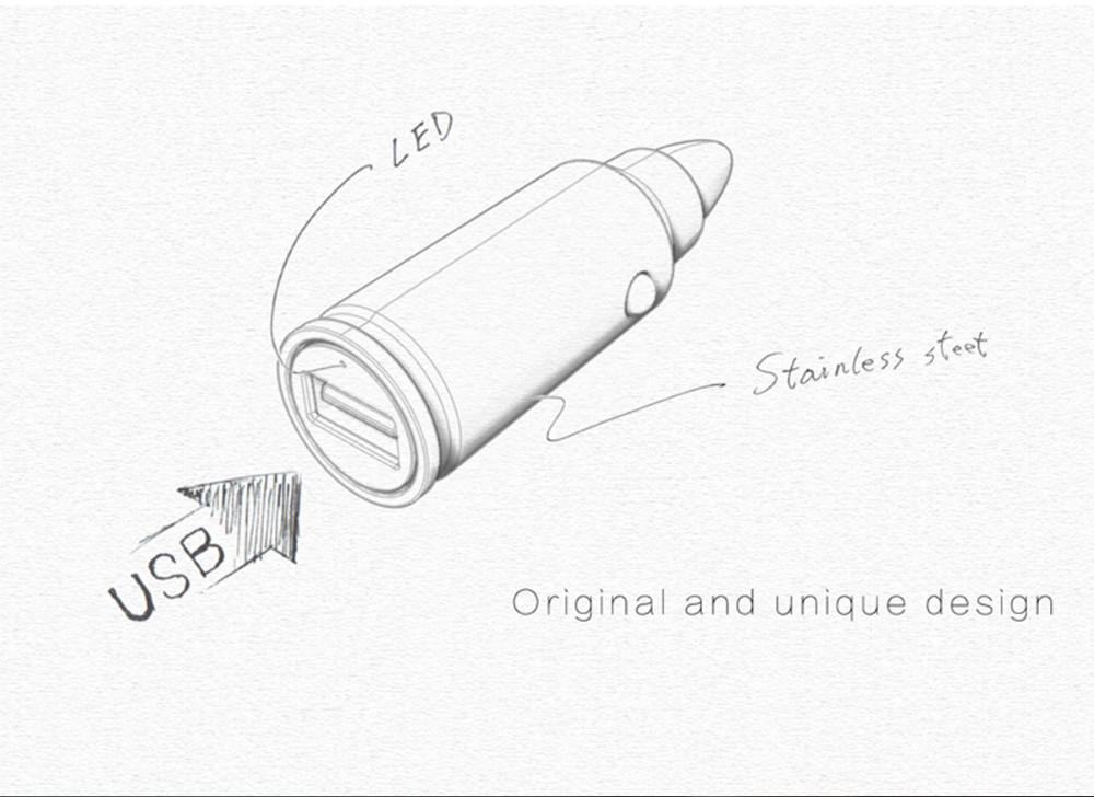 √18W 5V 2.4A VOXLINK Bullet ᗔ Quick Quick Charge 3.0 QC 3