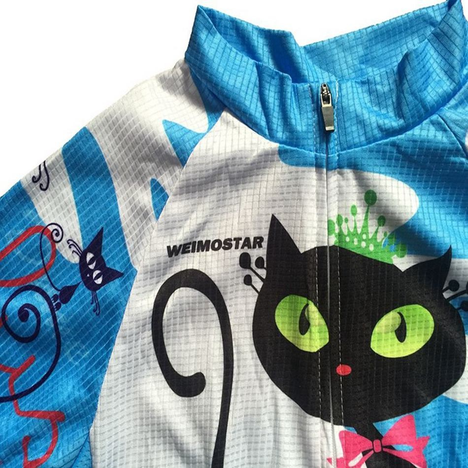 795e0f004 Weimostar Women Mountain MTB Bike Jersey Top Cycling Lady Bike Jersey Short  Sleeve Girl Clothes Bicycle Clothing Blue Cat