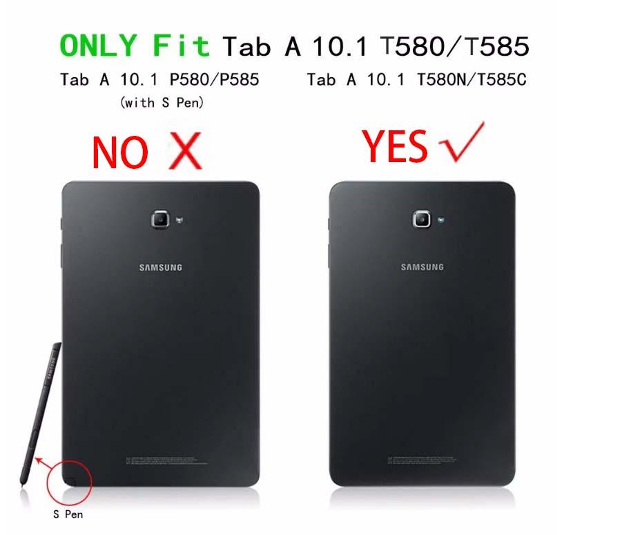 202ad013e0a Soporte magnético pu funda de cuero para Samsung Galaxy Tab A6 10,1 2016  T585 T580 SM-T585 T580N funda casos + película + stylus