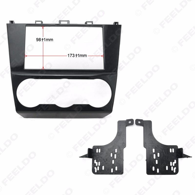 f6f4b96b062 FEELDO 1Pc Car 2DIN Refitting Radio Stereo DVD Frame Fascia Dash Panel  Installation Kits Conversion For Subaru Impreza