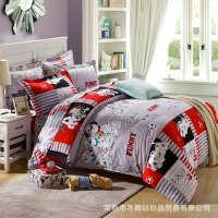 Coach dog pattern cartoon style bedding set with bed ...