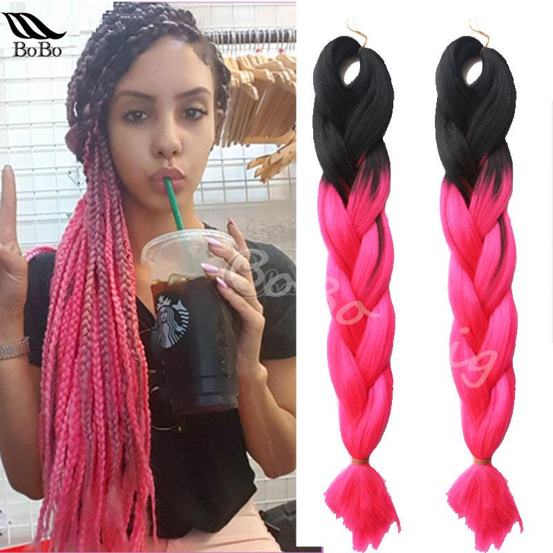 Popular Pink Braiding Hair Buy Cheap Pink Braiding Hair