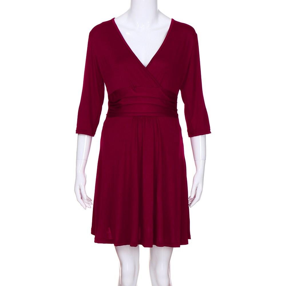 8b3bccb75 Ropa para mujeres embarazadas embarazo de cuello en V vestido de ...