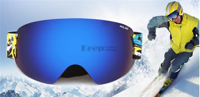 POLISI Óculos De Esqui Profissional Lente Dupla Camada Anti-Nevoeiro ... 19d9572c4f